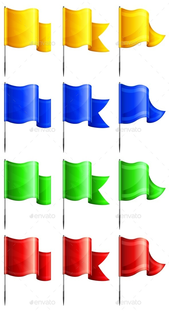 Rectangular Flags  - Miscellaneous Vectors