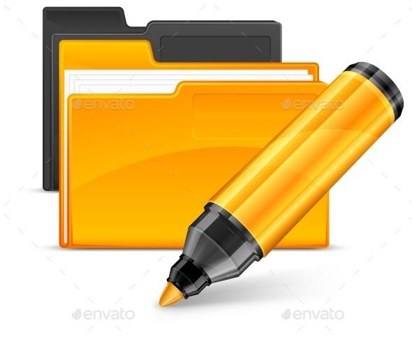 Folder  - Miscellaneous Vectors