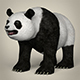 Low Poly Realistic Giant Panda