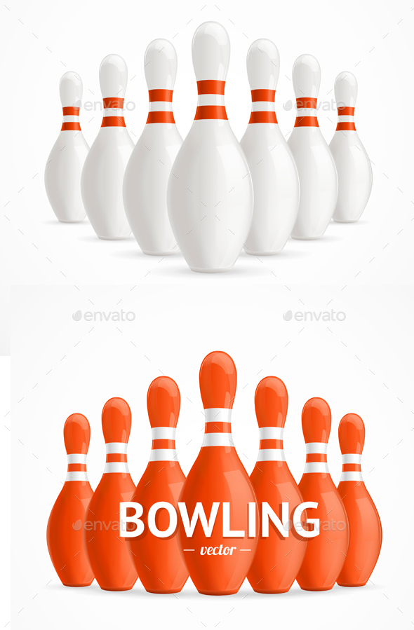Group of Bowling Pins - Sports/Activity Conceptual
