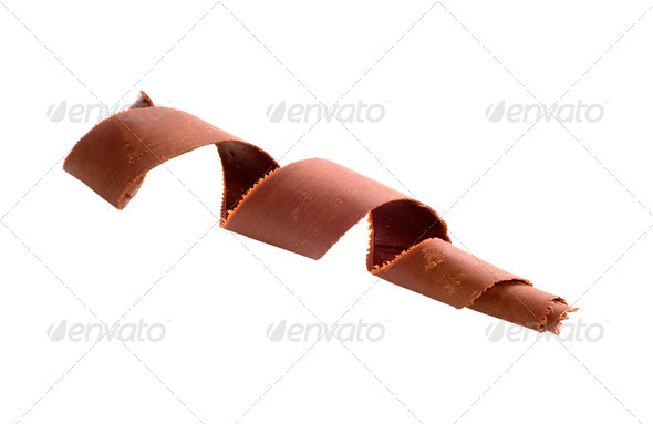 Chocolate curl - Stock Photo - Images