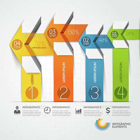 Modern Arrow Infographics Template. - Infographics