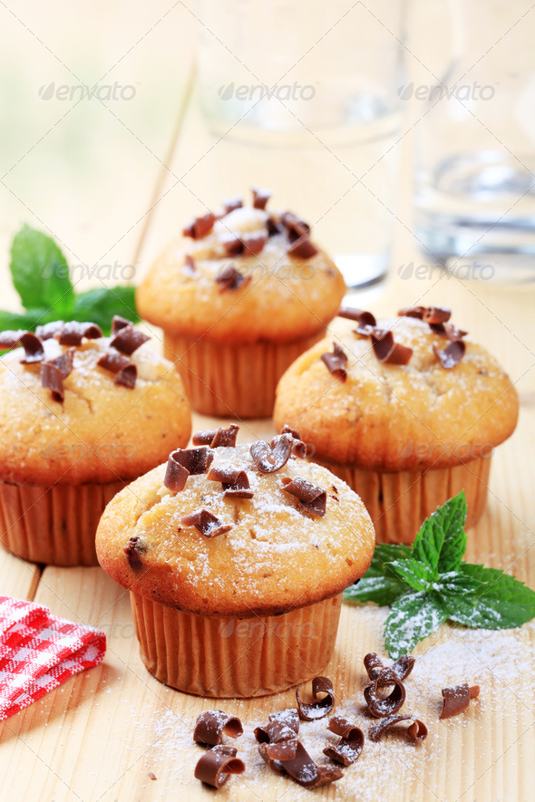 Fresh muffins - Stock Photo - Images