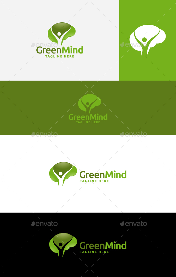 Green Mind - Nature Logo Templates