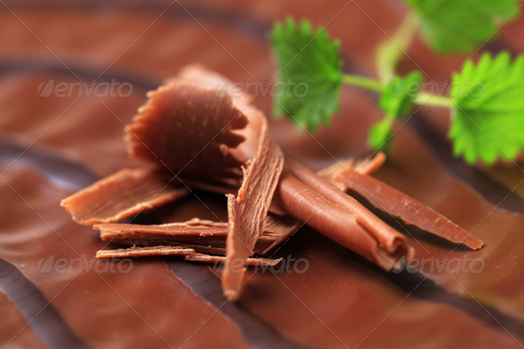 Chocolate glaze and shavings - Stock Photo - Images