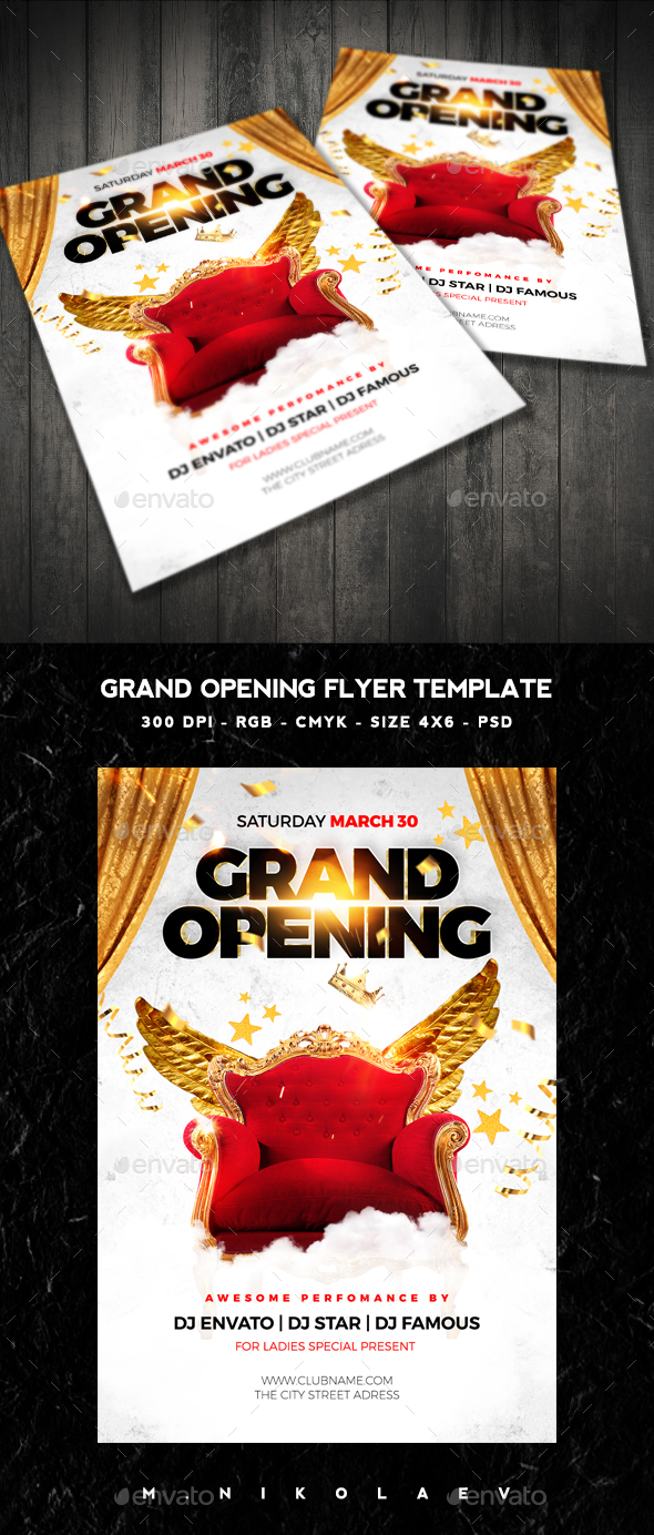 Grand Opening Flyer - Clubs & Parties Events