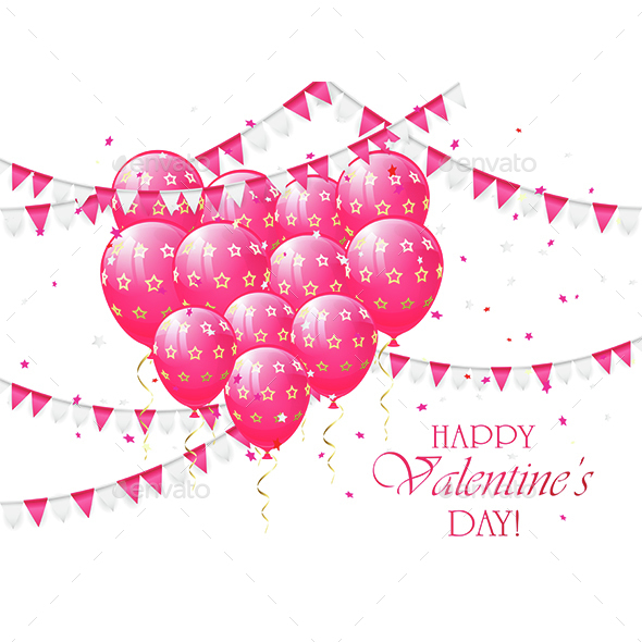 Valentines Balloons and Pennants - Valentines Seasons/Holidays