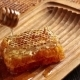 Honeycombs With Pouring Honey From Wooden Honey Dipper - VideoHive Item for Sale