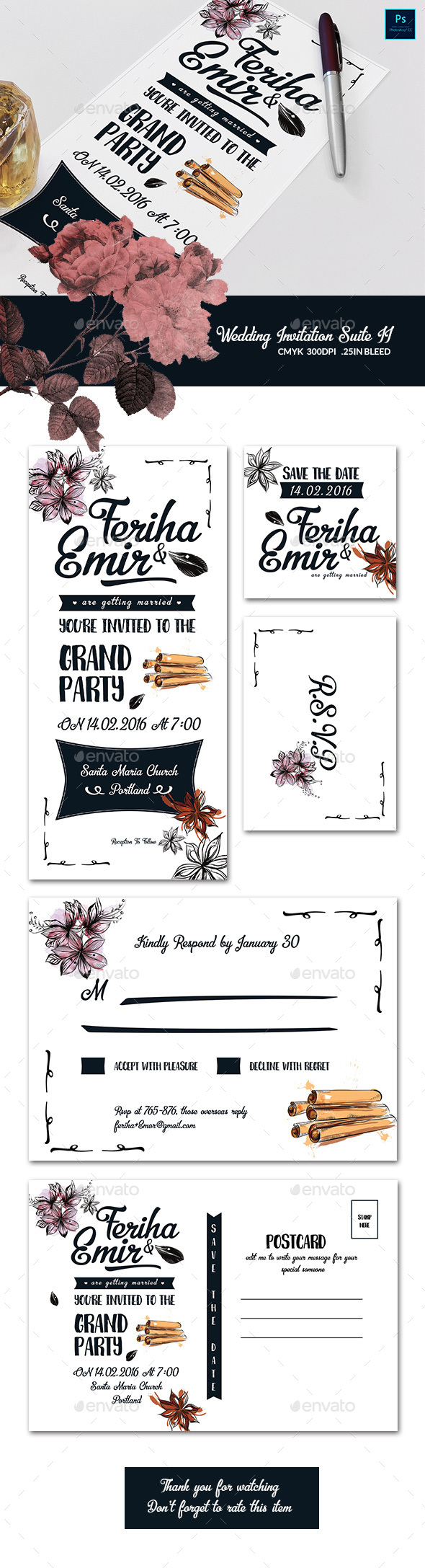 Wedding Invitation Suite II  - Weddings Cards & Invites