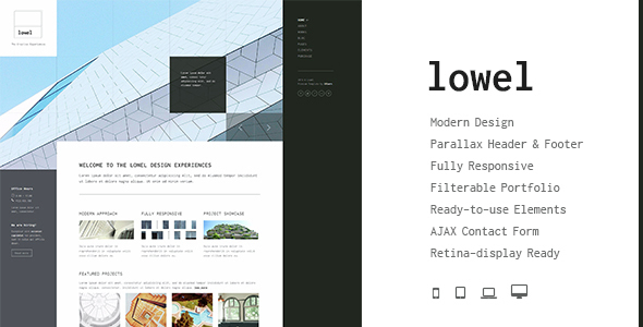 Lowel - The Modern HTML Template with Parallax - Business Corporate
