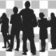 Standing People Silhouettes Pack 04 - VideoHive Item for Sale