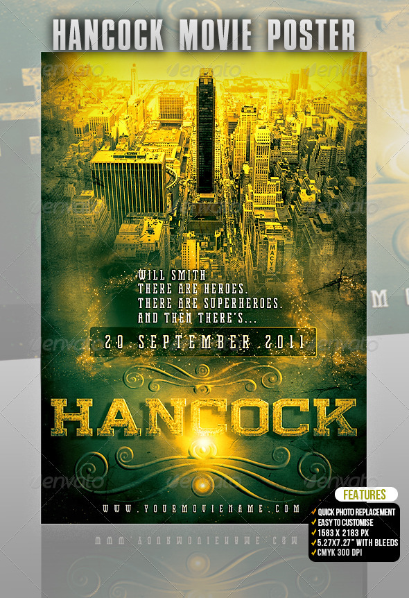 Hancock Movie Poster - Miscellaneous Events