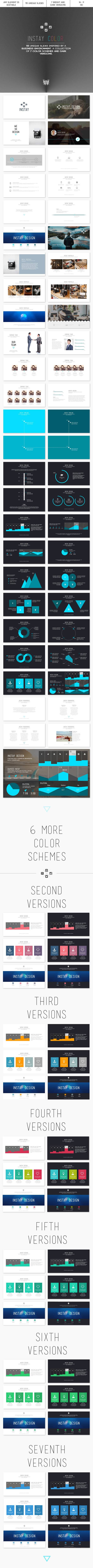 Instay Color 2.0 - PowerPoint Template - Abstract PowerPoint Templates