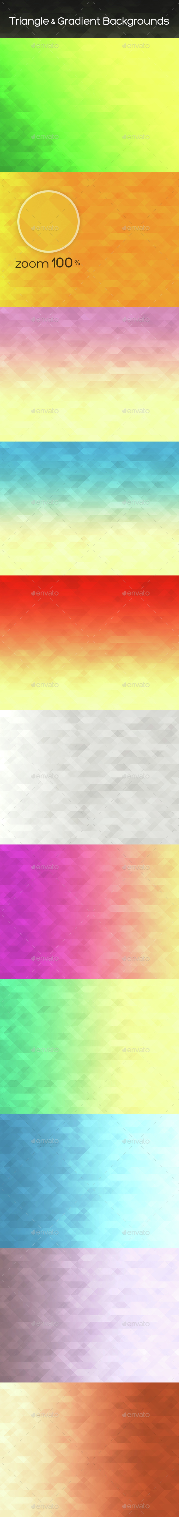 Triangle & Gradient Backgrounds - Abstract Backgrounds