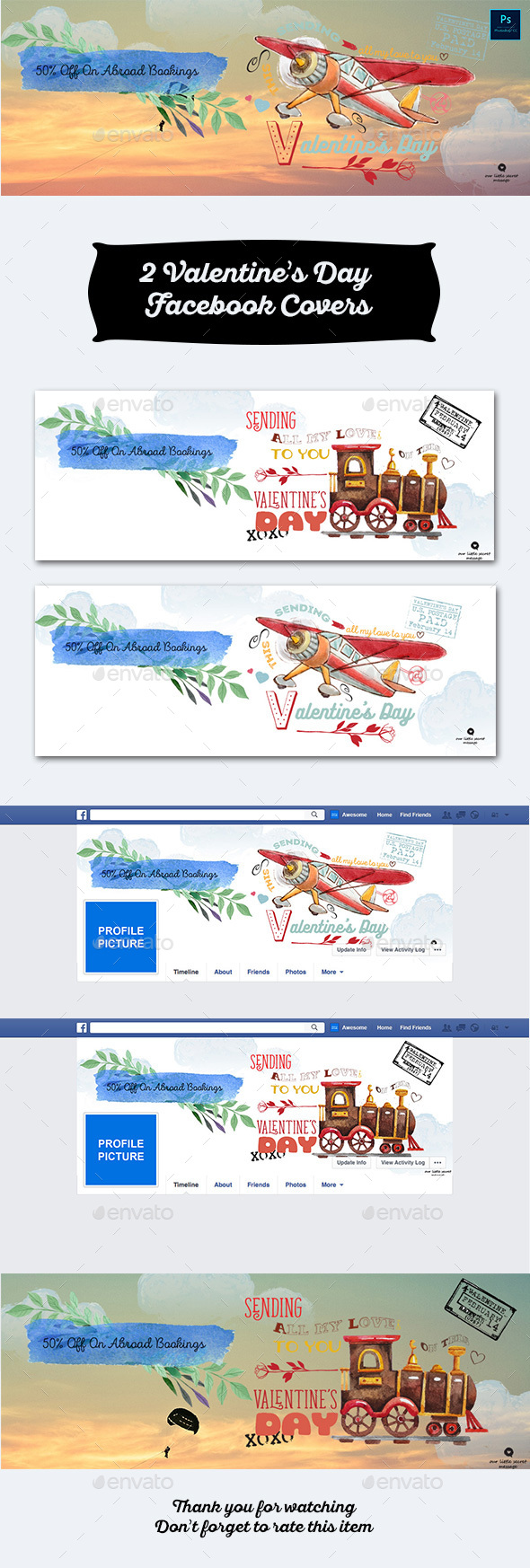 2 Valentine's Day Facebook Covers - Facebook Timeline Covers Social Media