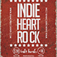 Indie Heart Rock Flyer - GraphicRiver Item for Sale