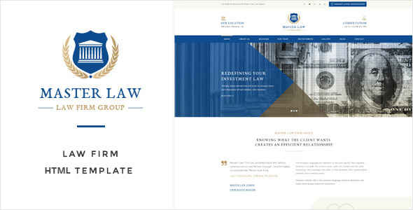 Law Master - Attorney & Lawyer HTML Template - Corporate Site Templates