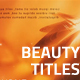 Beauty Titles - VideoHive Item for Sale