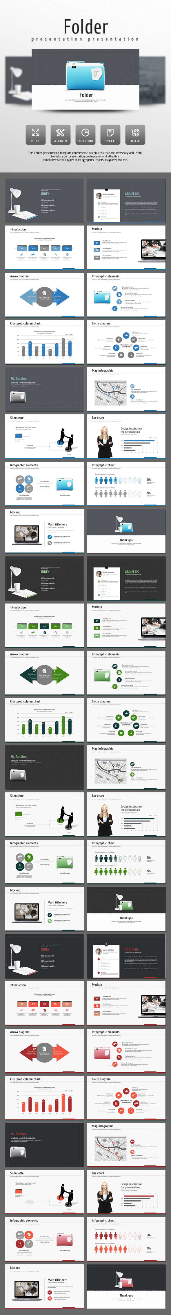 Folder - Business PowerPoint Templates