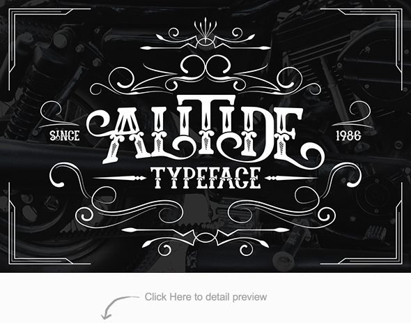 Alitide Typeface - Serif Fonts