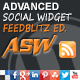 Advanced Social Widget Feedblitz Edition