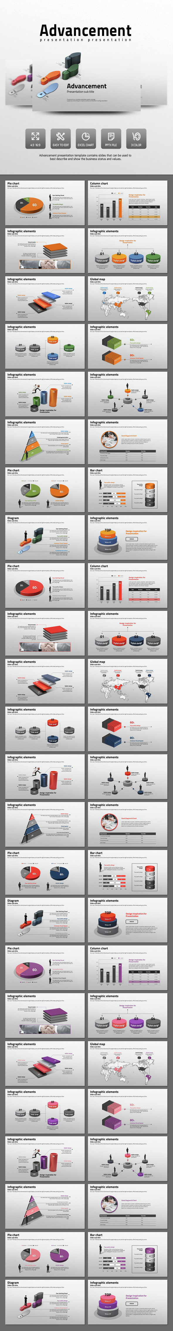 Advancement - PowerPoint Templates Presentation Templates