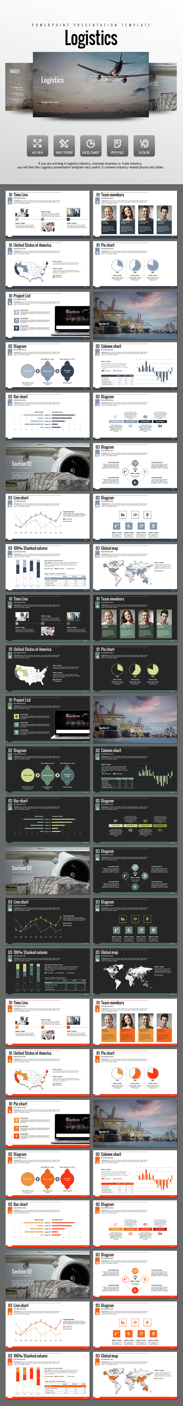 Logistics - PowerPoint Templates Presentation Templates