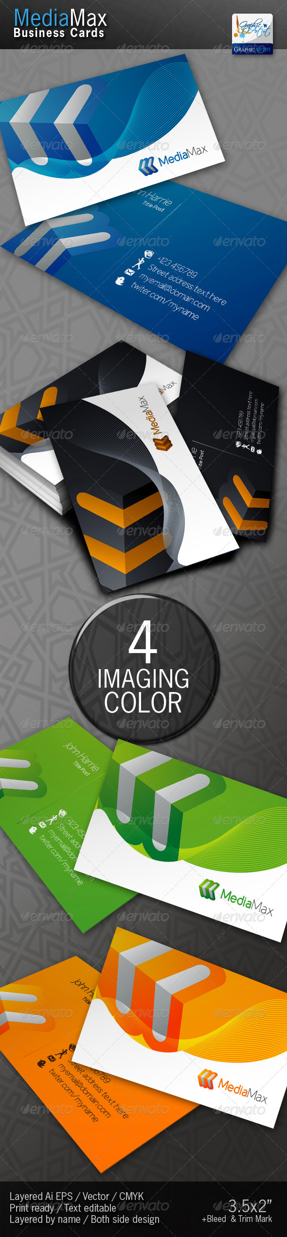 MediaMax Business Cards - Corporate Business Cards