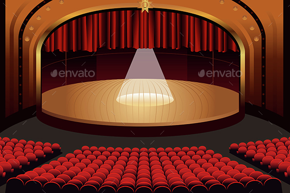 Empty Theater Stage - Buildings Objects