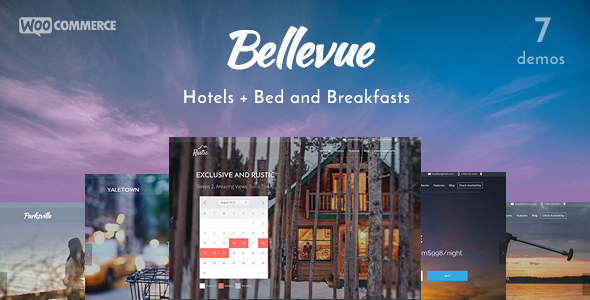 Bellevue Hotel + Bed & Breakfast Booking Theme
