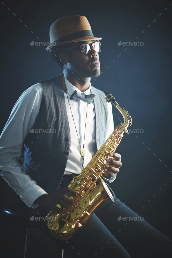 Jazz man - Stock Photo - Images