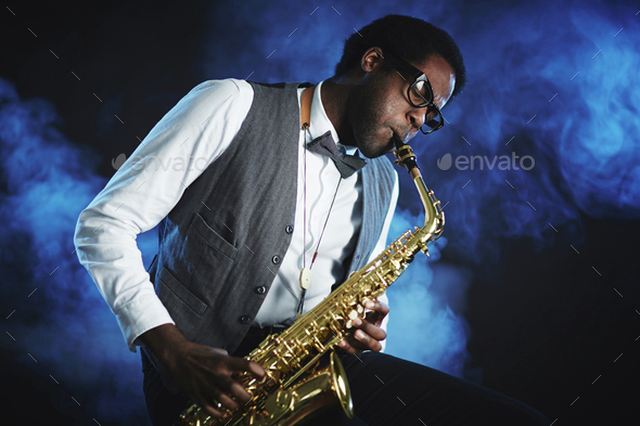 Saxophone player - Stock Photo - Images