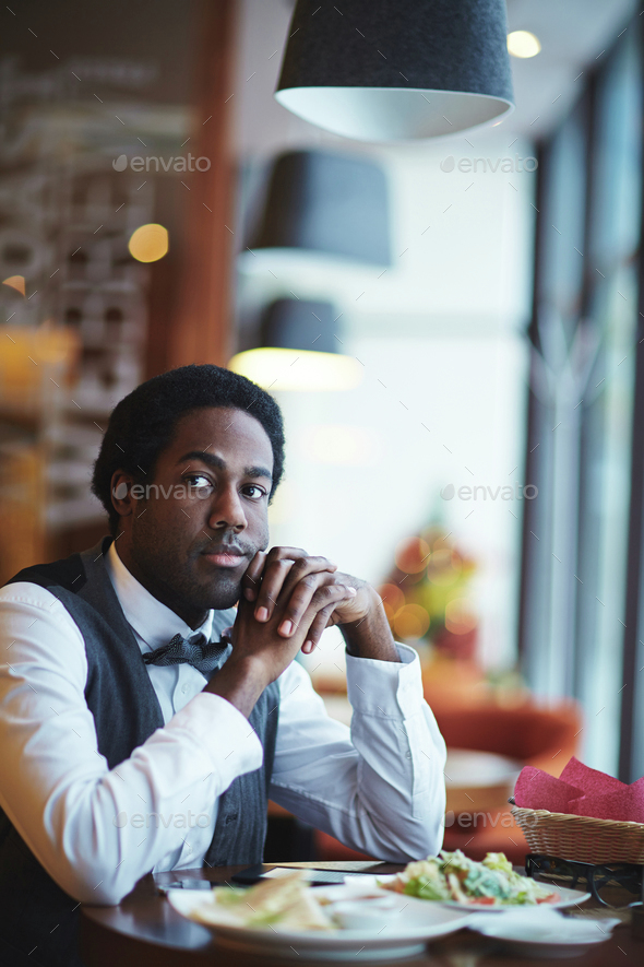 Sitting in cafe - Stock Photo - Images