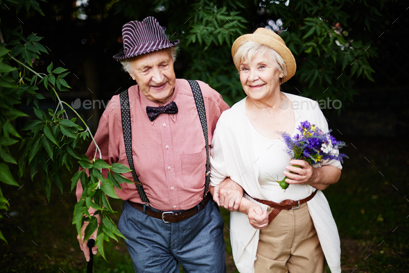 Couple in park - Stock Photo - Images