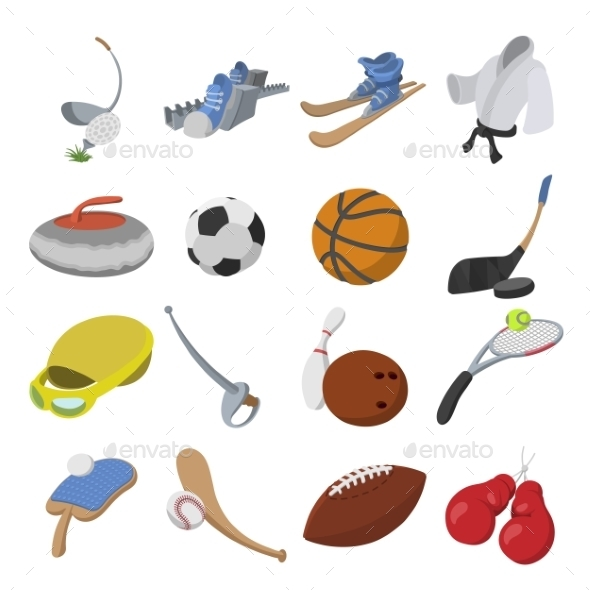 Sport Cartoon Icons - Miscellaneous Icons