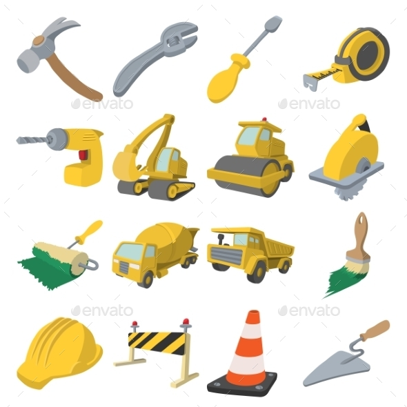 Construction Cartoon Icons - Miscellaneous Icons