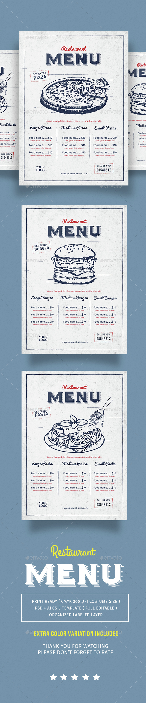 Vintage Restaurant Menu - Restaurant Flyers