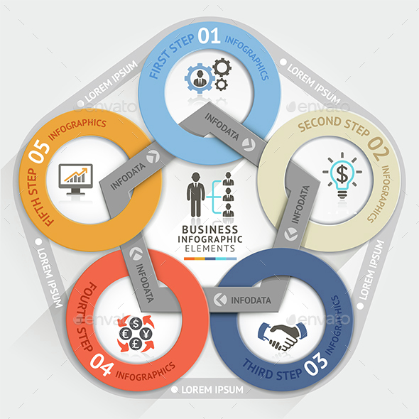Business Management Circle Infographics Template. - Infographics