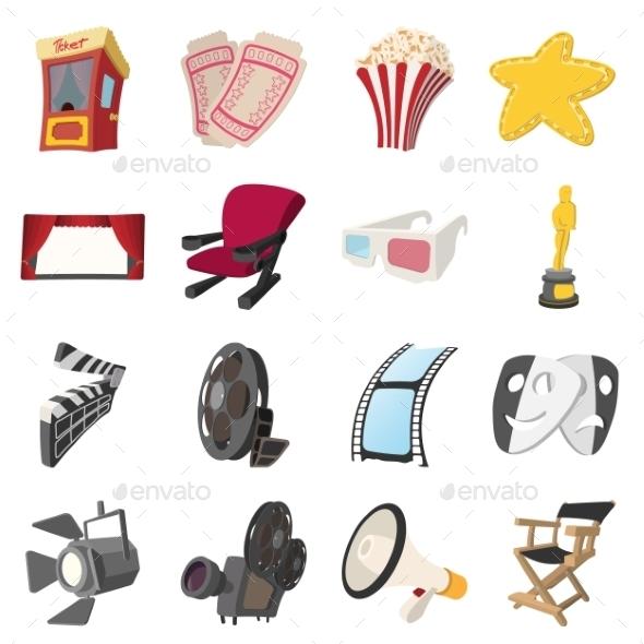 Cinema Cartoon Icons Set - Miscellaneous Icons