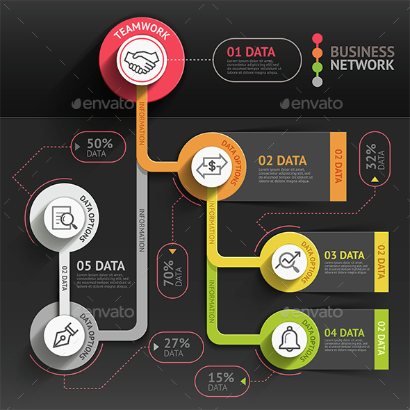 Business Marketing Infographics Template. - Infographics