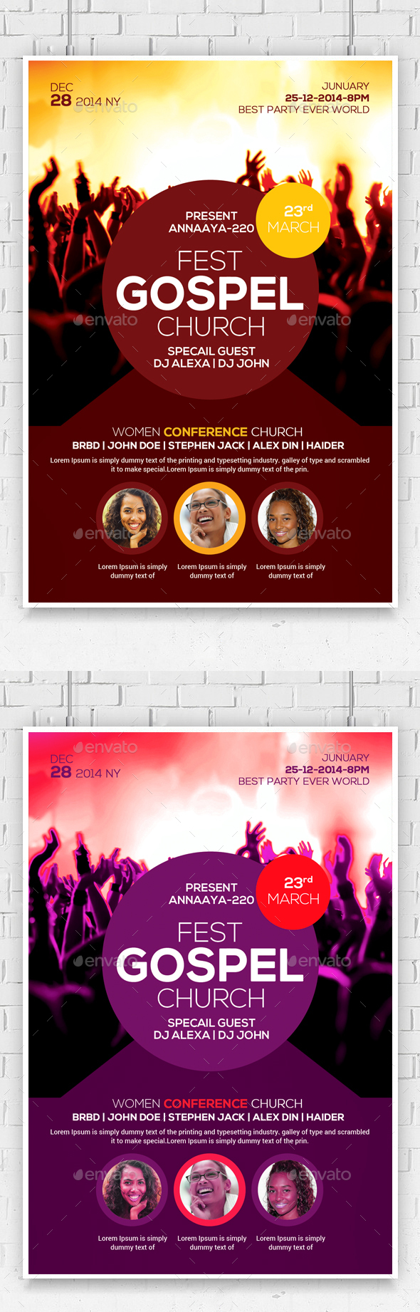 Gospel Fest Church Flyer Template - Church Flyers