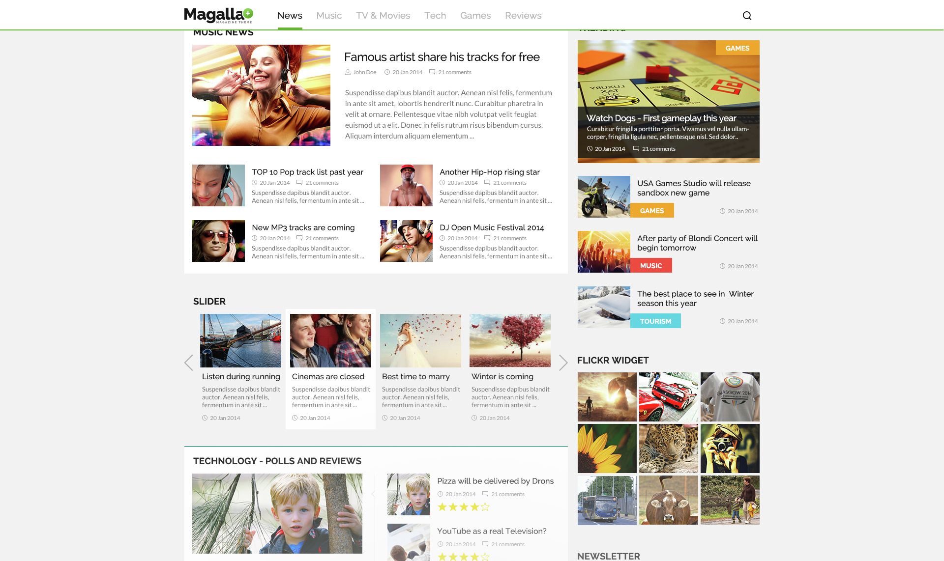 Magalla magazine news and business blog html