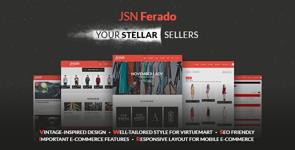 JSN Ferado - Stellar Joomla! e-Commerce Templates - Fashion Retail