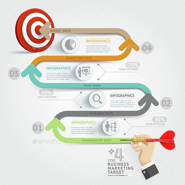 Business Target Marketing Dart Idea. - Infographics