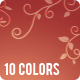 Animated Floral Background - 10 Colors