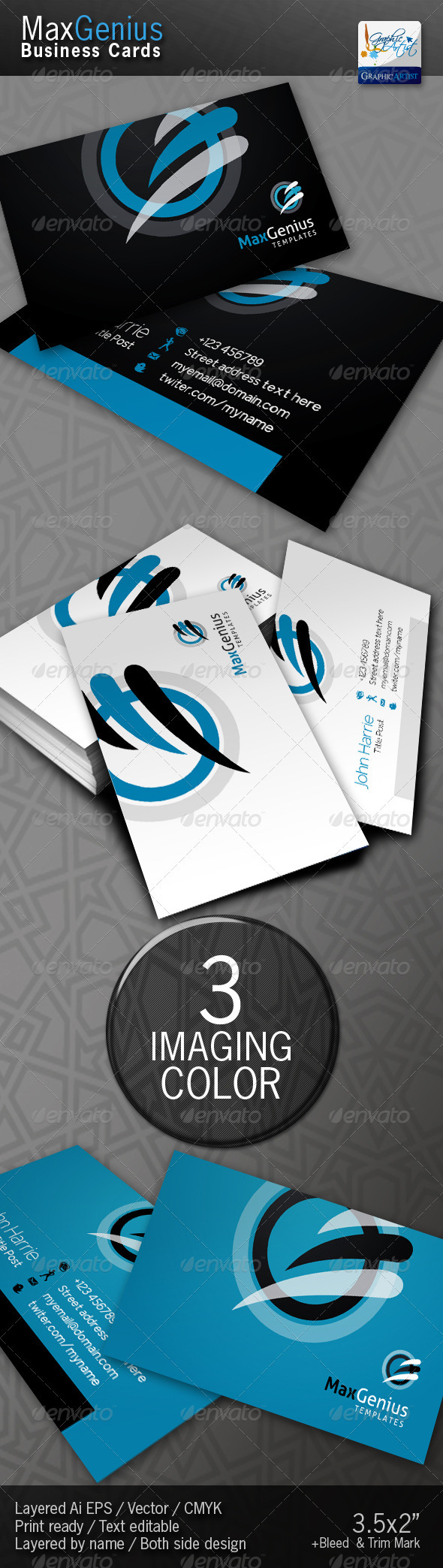MaxGenius Business Cards - Corporate Business Cards