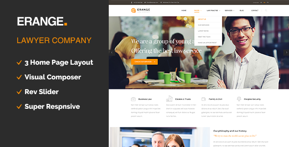 Erange- Law Firm WordPress Theme