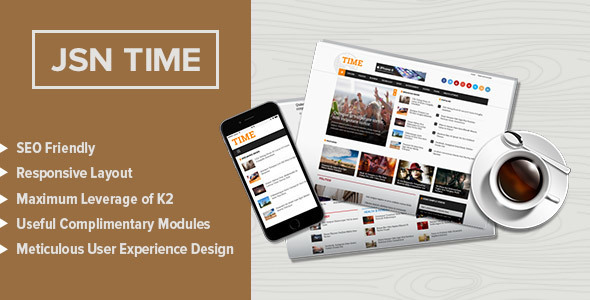 JSN Time - Crucial UX News Template for Joomla - News / Editorial Blog / Magazine