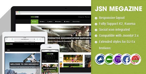 JSN Megazine - Responsive Joomla Magazine Template - Blog / Magazine Joomla