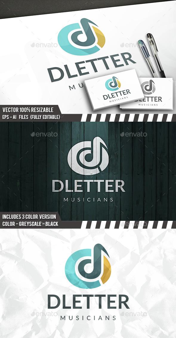 D Letter Logo Template - Letters Logo Templates